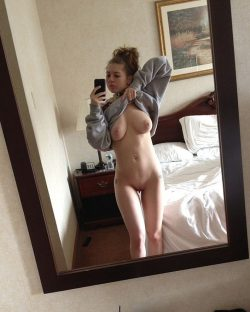Teen showing off the goods
