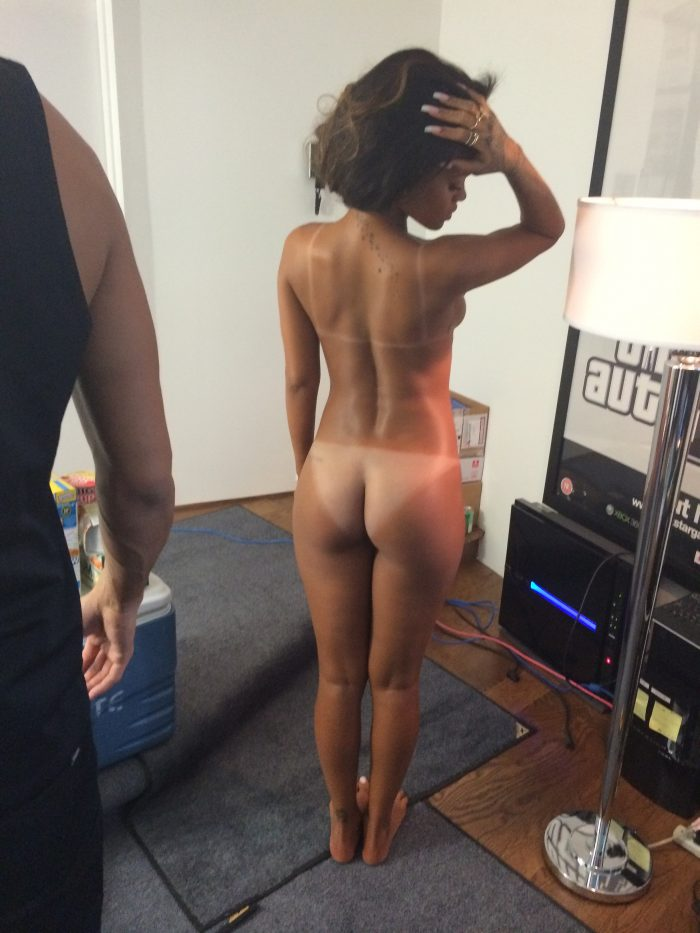 In her ass nude