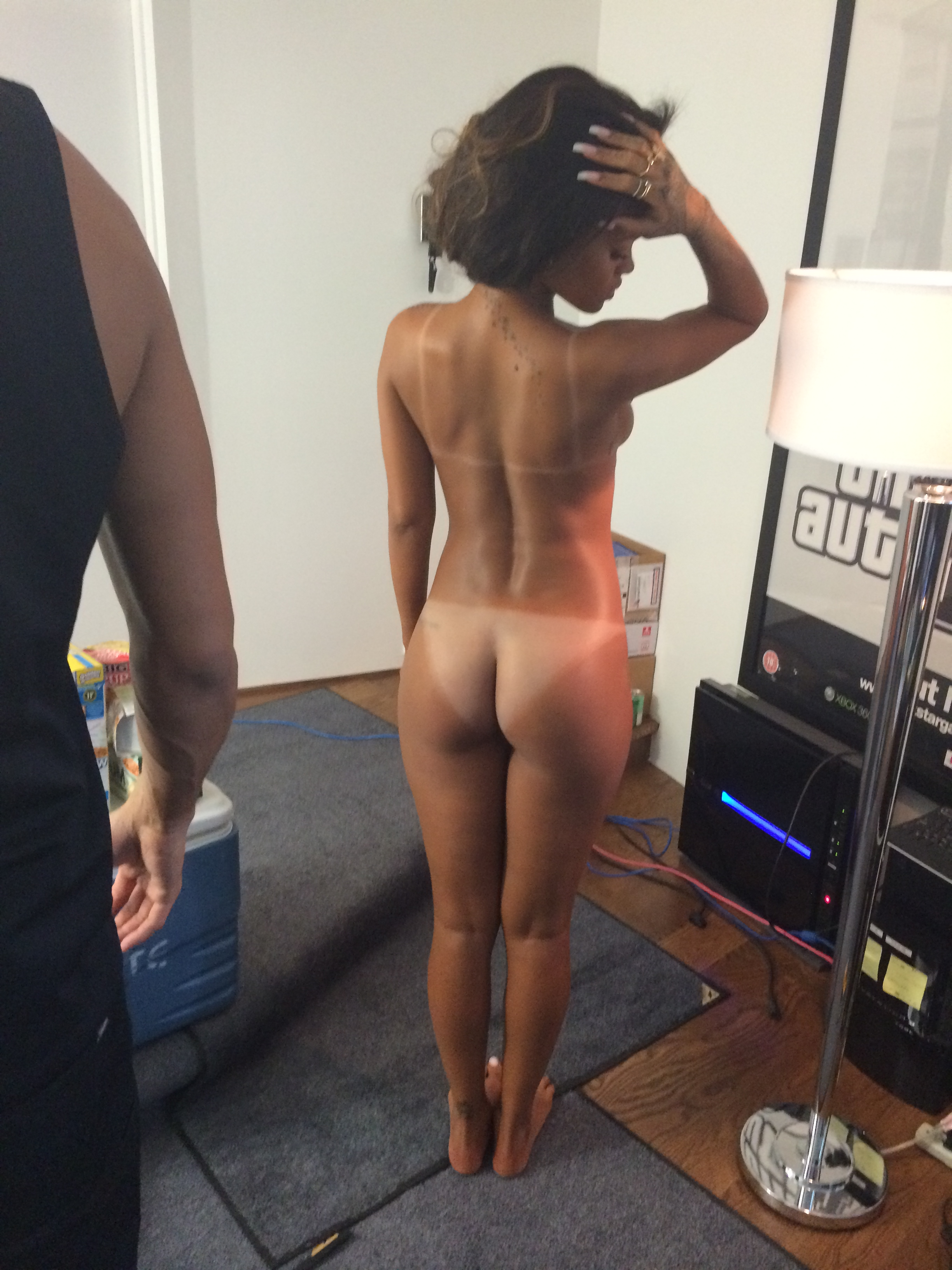 a young pussy Rihanna naked as lady