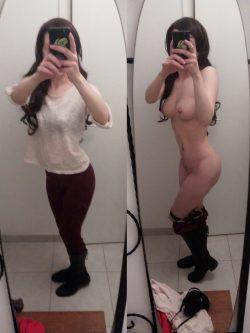 Dressing room nude