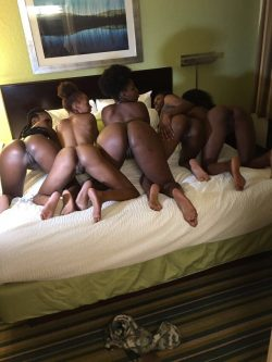 Naked group bending over mine the