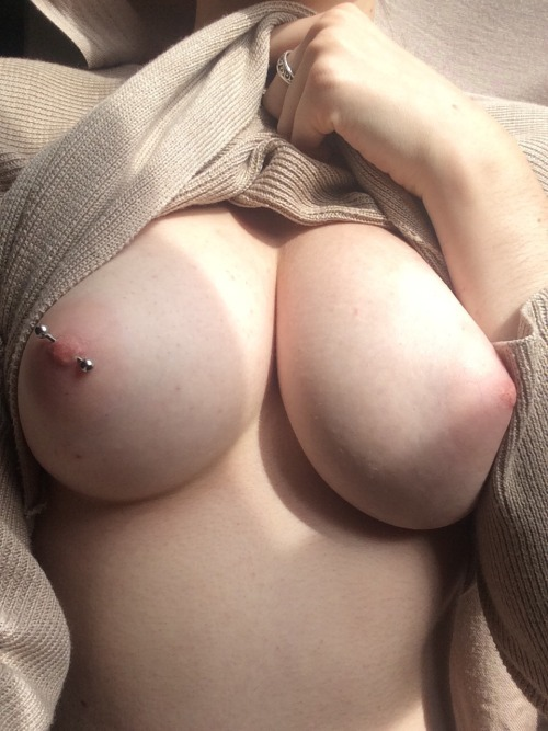 Great boobs pierced nipple