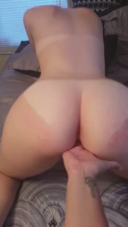 FIngering her wet pussy fro the back