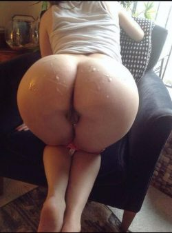 Busted a nut on her nice big booty