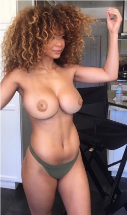 Gorgeous lightskin babe with huge jugs