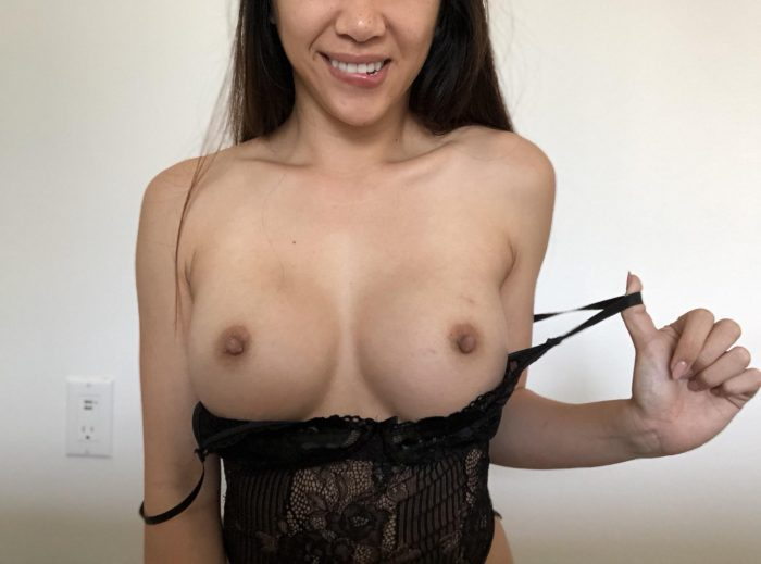 Horny petite with nice yummy boobs