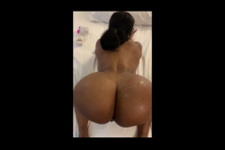 Phat ass bad bitch shakes her ass happily after I bust a nut all over her