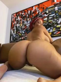 Thick ebony shaking her phat jiggly ass
